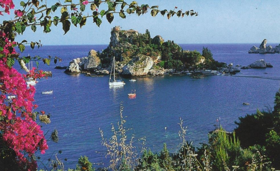 Sizilien Bucht von Toarmina